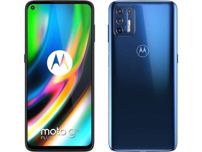 Telemóvel Motorola Moto G9 Plus em azul