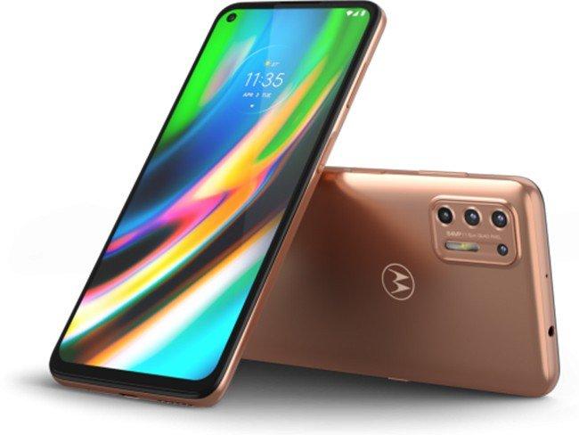 Telemóvel Motorola Moto G9 Plus em dourado