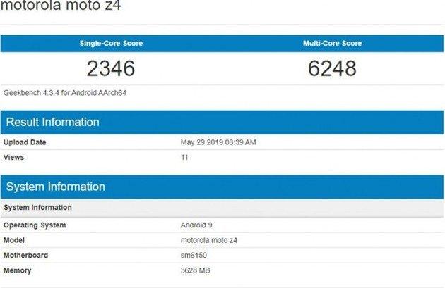 Motorola Moto Z4 geekbench
