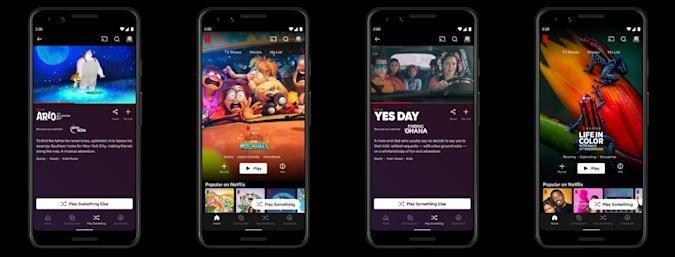 Netflix testa reprodução aleatória no Android. Crédito: Engadget