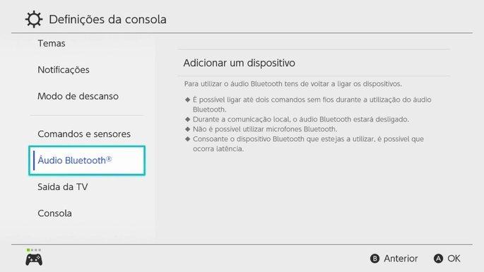nintendo bluetooth portugal