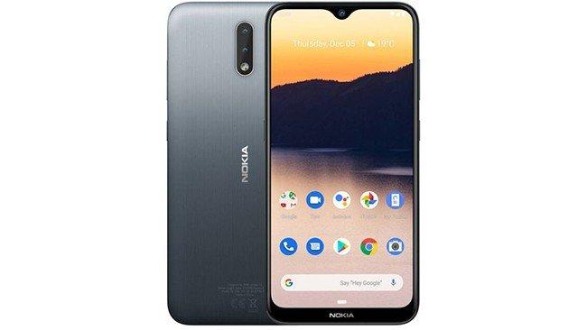 telemóvel Nokia 2.3 em cinza