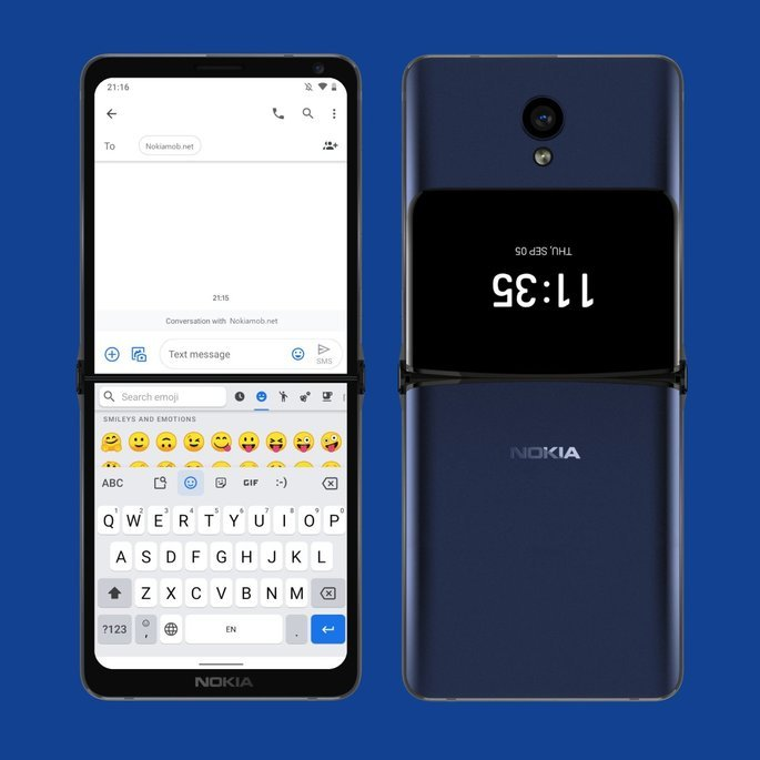 Conceito de smartphone dobrável da Nokia