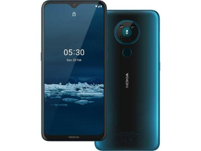 Telemóvel Nokia 5.3 em azul