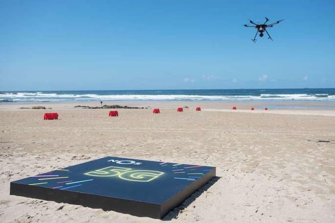 5g nos matosinhos simulacro drone