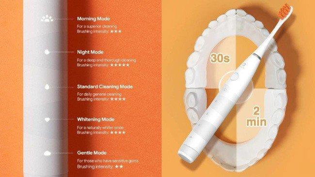 Escova de dentes elétrica Oclean Flow