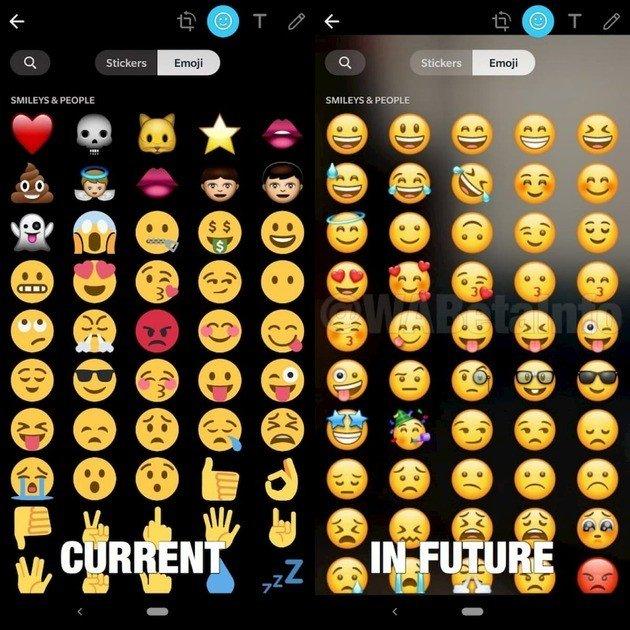 WhasApp novos Emoji