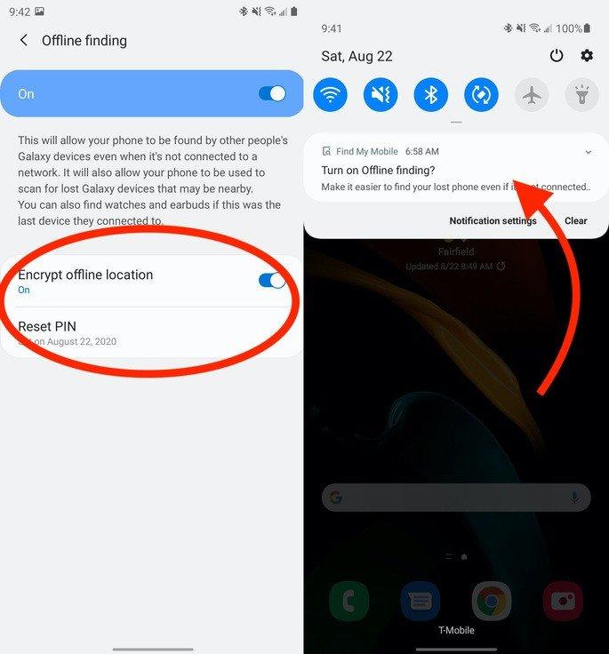 Samsung smartphone encontrar