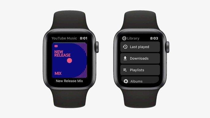 YouTube Music WatchOS Apple