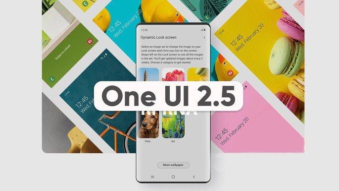 Ilustração da One UI 2.5 da Samsung