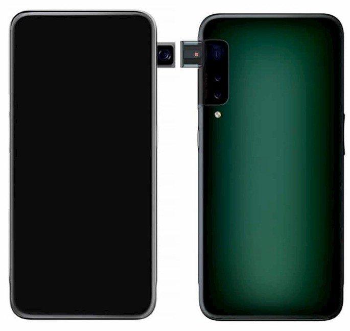 Patente OPPO smartphone câmara frontal