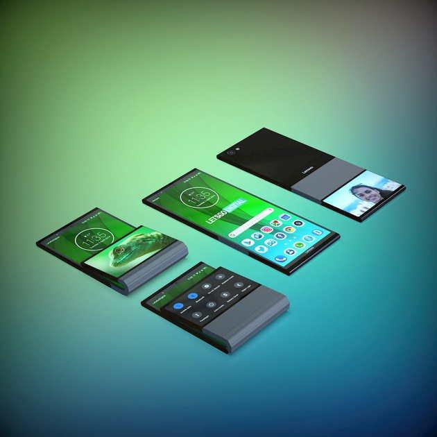 lenovo smartphone dobrável patente