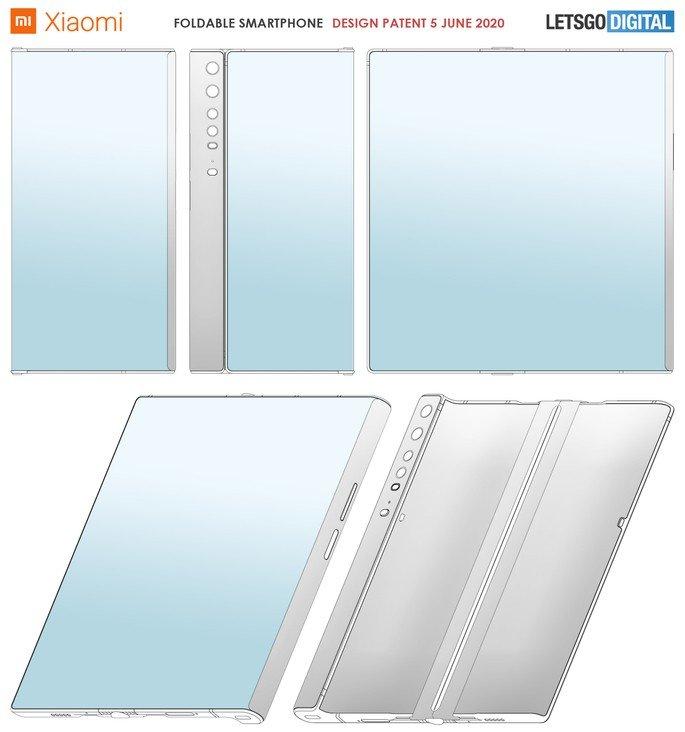 Patente de smartphone dobrável da Xiaomi