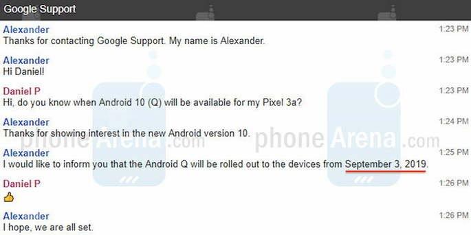 android 10 data de lançamento