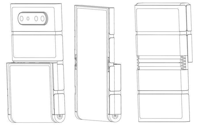 Patente OPPO smartphone dobrável