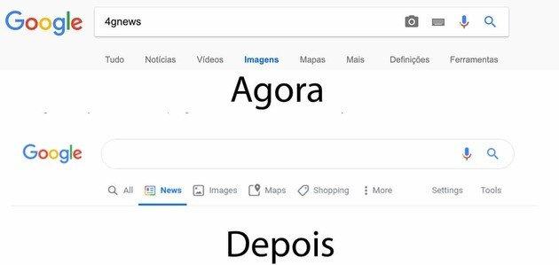 Nova pesquisa Google design