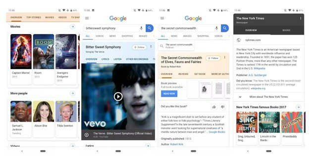 Pesquisa Google novo design 2