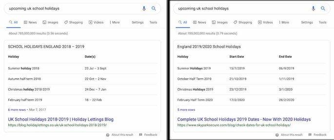 Pesquisa Google férias