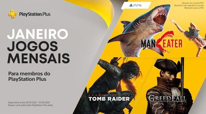 Jogos PS Plus para Janeiro de 2021