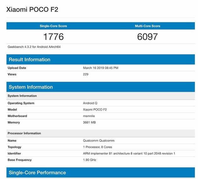 Xiaomi Pocophone F2 specs