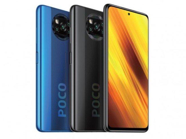Telemóvel POCO X3 NFC da Xiaomi em várias cores