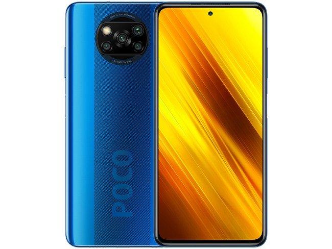 Telemóvel POCO X3 NFC da Xiaomi em azul