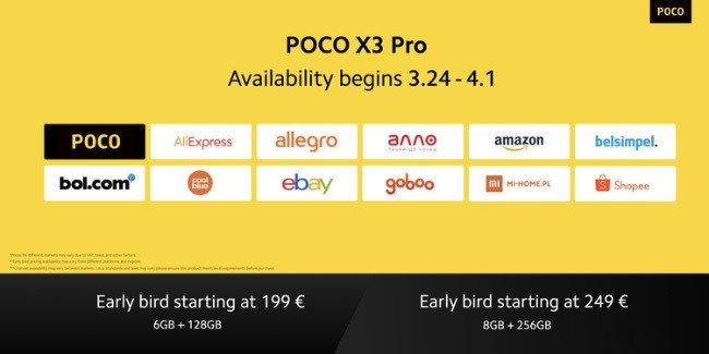 POCO X3 Preços