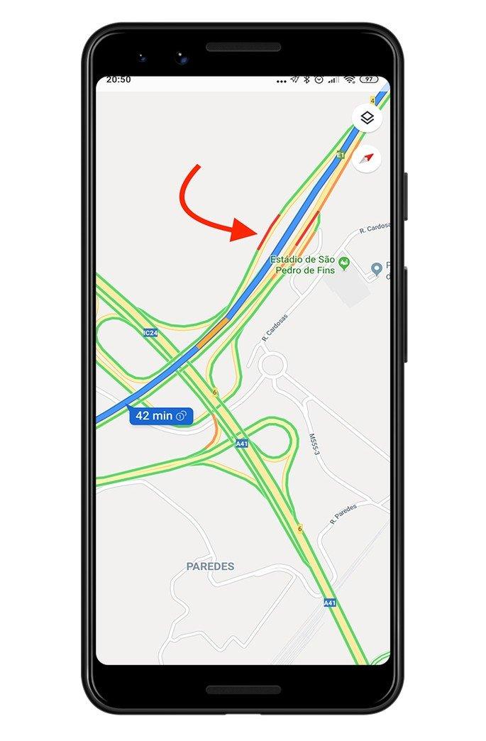 Google Maps transito