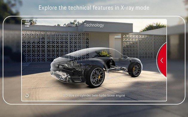 Porsche aplicação realidade aumentada