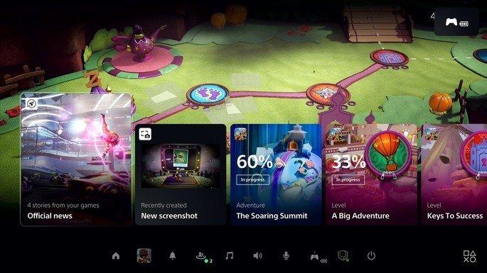 PlayStation 5 interface