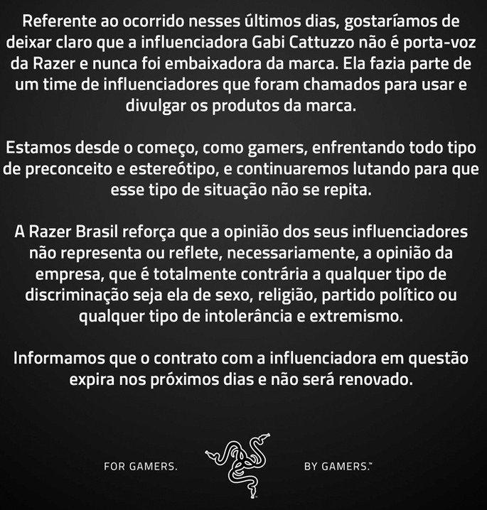 Razer Brasil Resposta