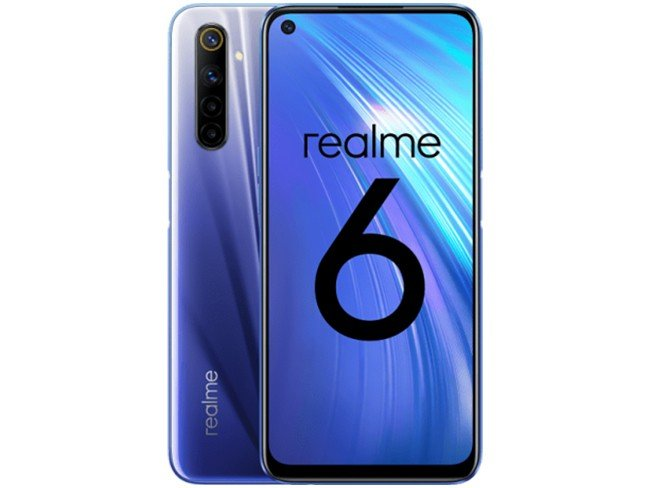 Telemóvel Realme 6 em azul