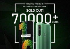 Realme Narzo 10 esgota em apenas 3 minutos! Rival da Xiaomi continua a crescer em força