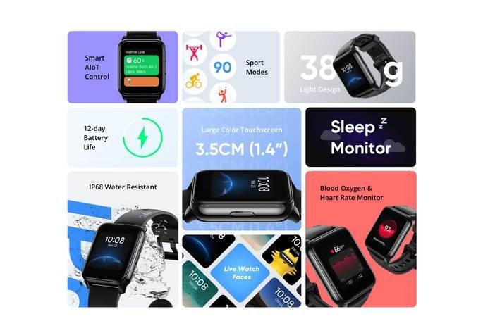 Principais características do Realme Watch 2
