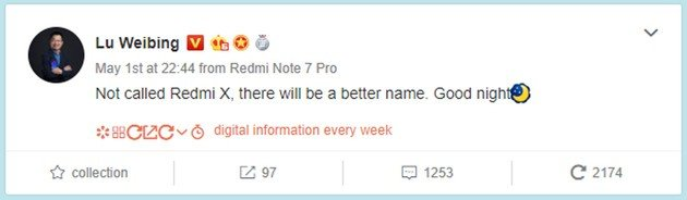 Xiaomi Redmi X CEO