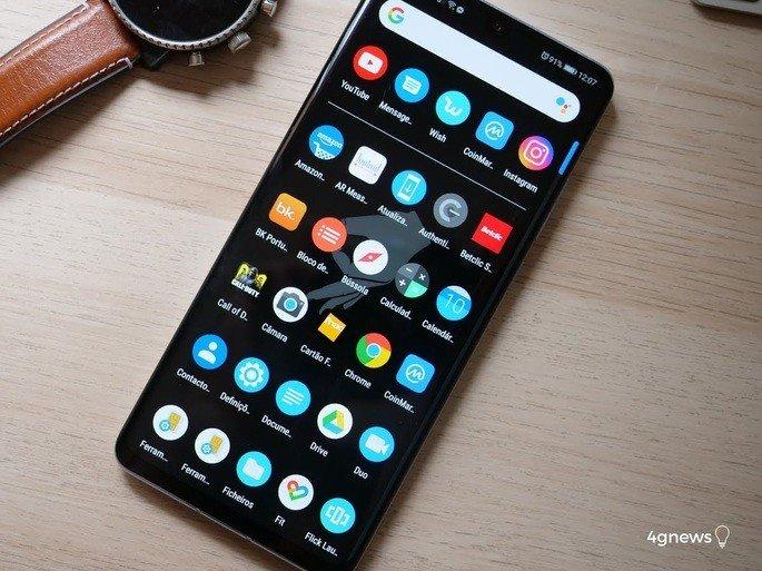Xiaomi gaveta de aplicações