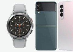 Samsung 'confirma' preços baixos para os Galaxy Z Fold 3, Flip 3 e Watch 4 na Europa