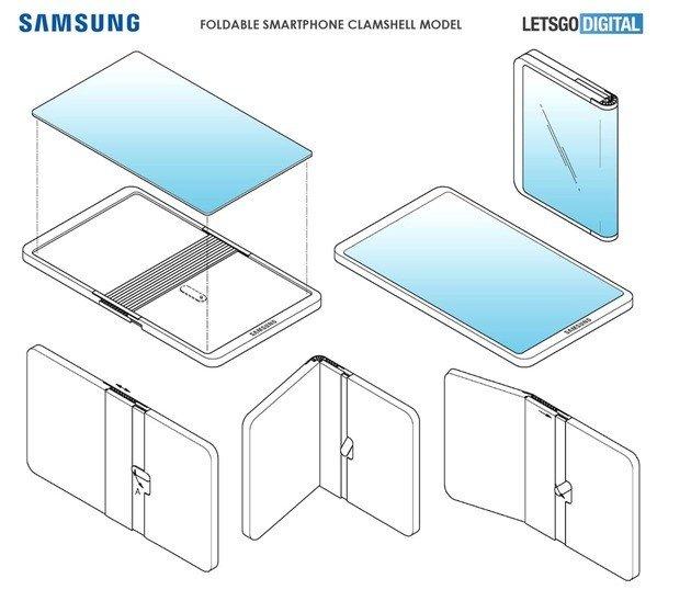 Samsung dobrável concha
