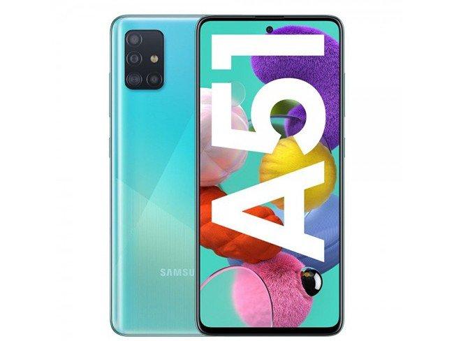 Telemóvel Samsung Galaxy A51 em azul