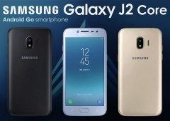 Samsung Galaxy J2 Core: Manual confirma um Android Go personalizado