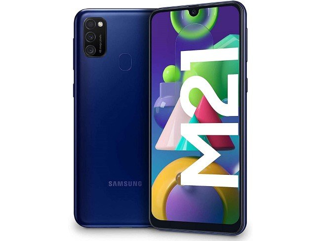 Telemóvel Samsung Galaxy M21 em azul