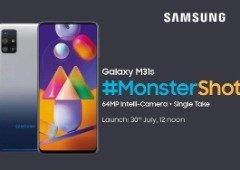 Samsung Galaxy M31s vai ser apresentado ainda este mês e terá uma bateria gigante!