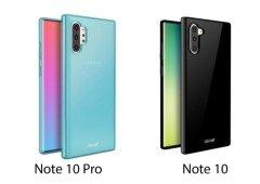 Samsung Galaxy Note 10 e Note 10 Pro: capas de proteção confirmam o seu design