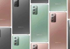Samsung Galaxy Note 20: imagens revelam design das capas oficiais