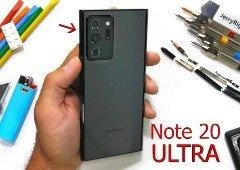 Samsung Galaxy Note 20 Ultra submetido a teste de durabilidade. Vê o resultado (vídeo)