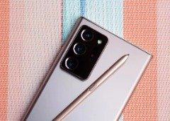 Samsung Galaxy Note 21 é mencionado à entrada de uma loja da marca