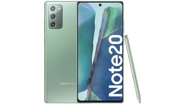 Samsung Galaxy Note20 em verde