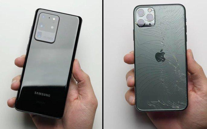 Samsung Galaxy S20 Ultra Vs iPhone 11 Pro Apple