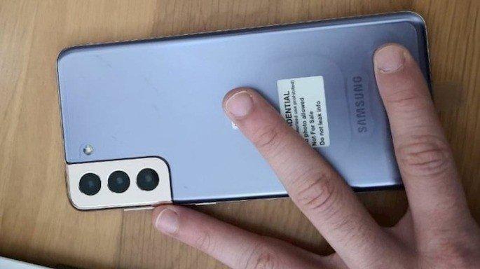 Samsung Galaxy S21 em alegadas imagens reais