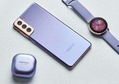 Samsung Galaxy S21 disponível para aluguer com prendas, mas não em Portugal